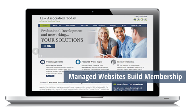 Managed websites build association membership