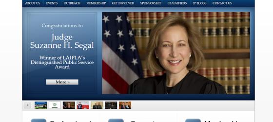 LAIPLA Los Angeles Intellectual Property Law Association WordPress website