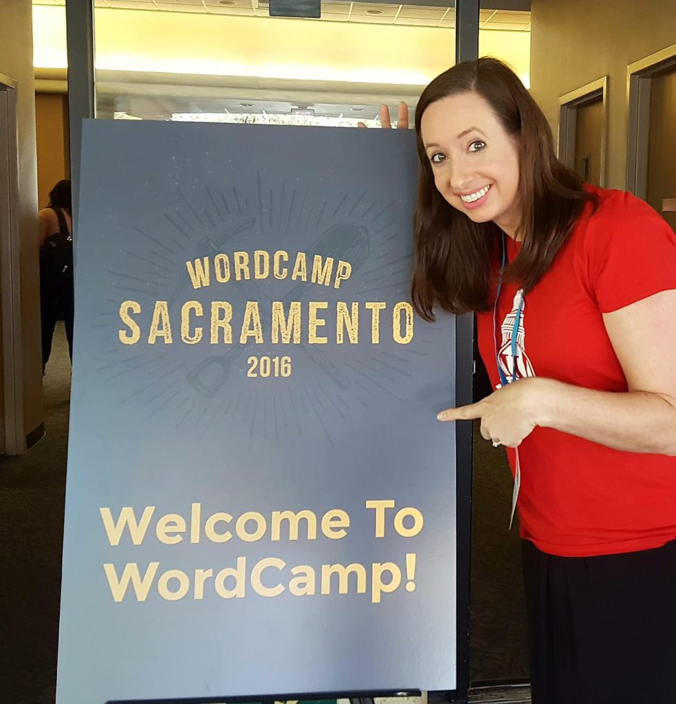 Deanna at WordCamp Sacramento 2016