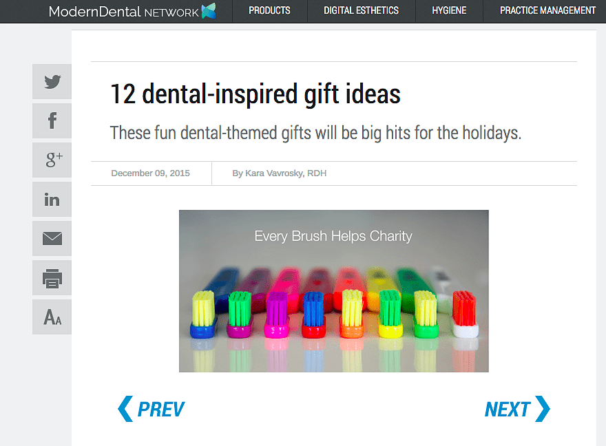Dental inspired online gift guide boosts ecommerce sales revenue