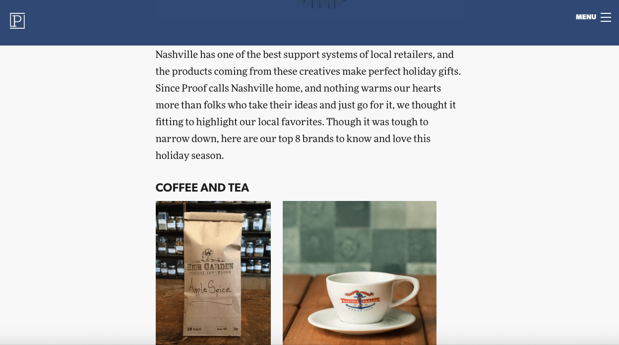 Gift guide for online coffee and tea