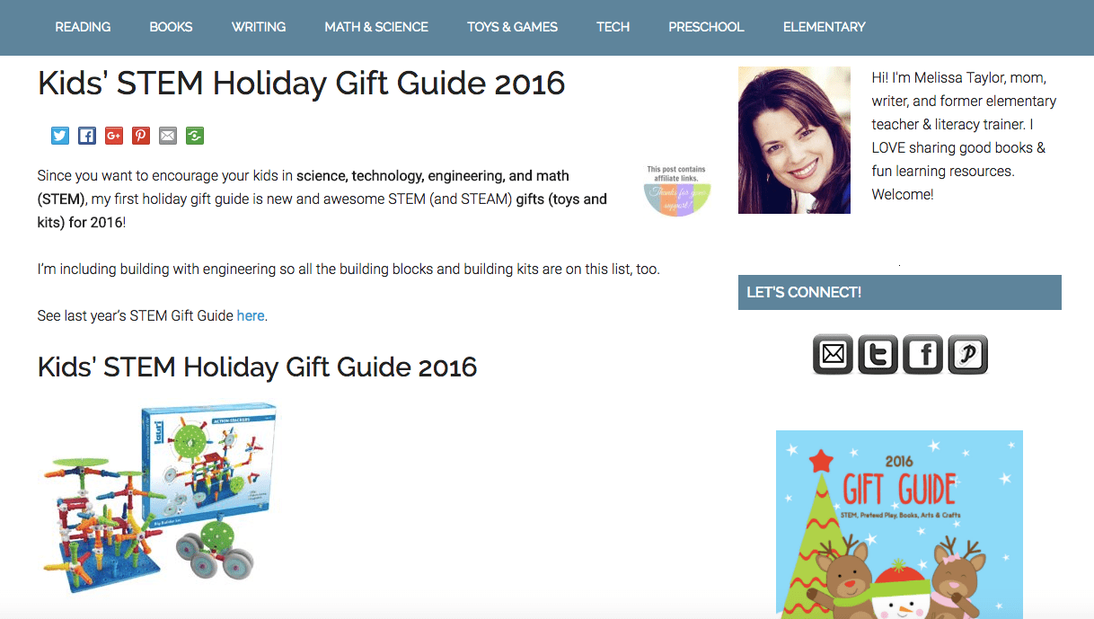 Kids in science, technology, engineering, and math (STEM) first holiday online gift guide