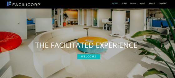 San Jose website design for FaciliCorp