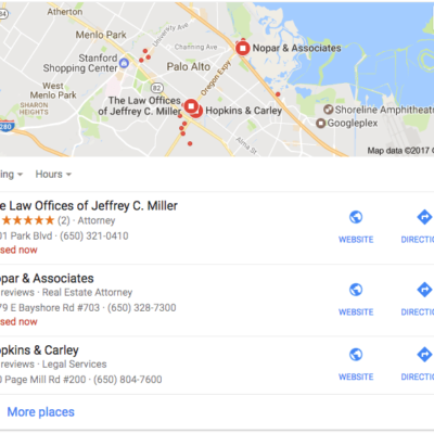 Law firm SEO marketing services for Silicon Valley attorneys