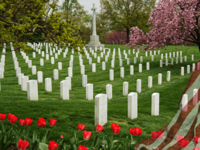 Remembering the meaning of Memorial Day with a photo of Arlington National Cemetery