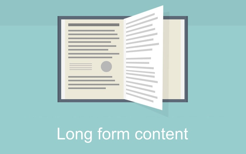 SEO improved by writing long form articles for content authority