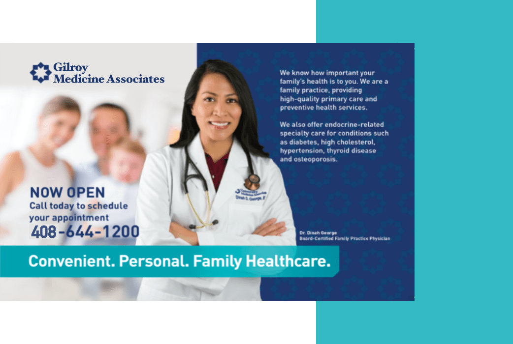 Healthcare firm in Gilroy, CA uses social media advertising as part of Facebook Ads campaign