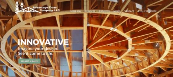 Hollister, CA website design for Advantage Truss Company