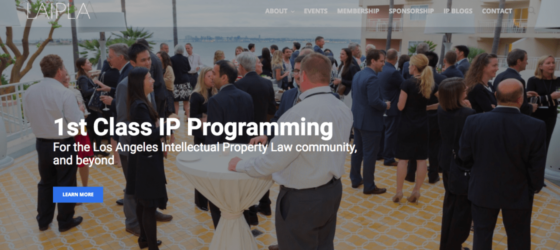 Web design project for Los Angeles Intellectual Property Law Association