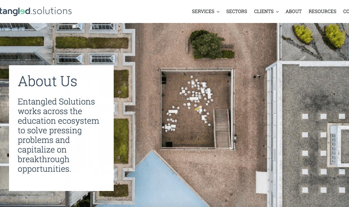 Website design design services San Francisco higher education project