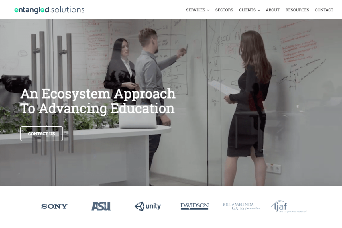 New WordPress website design for San Francisco higher education incubator