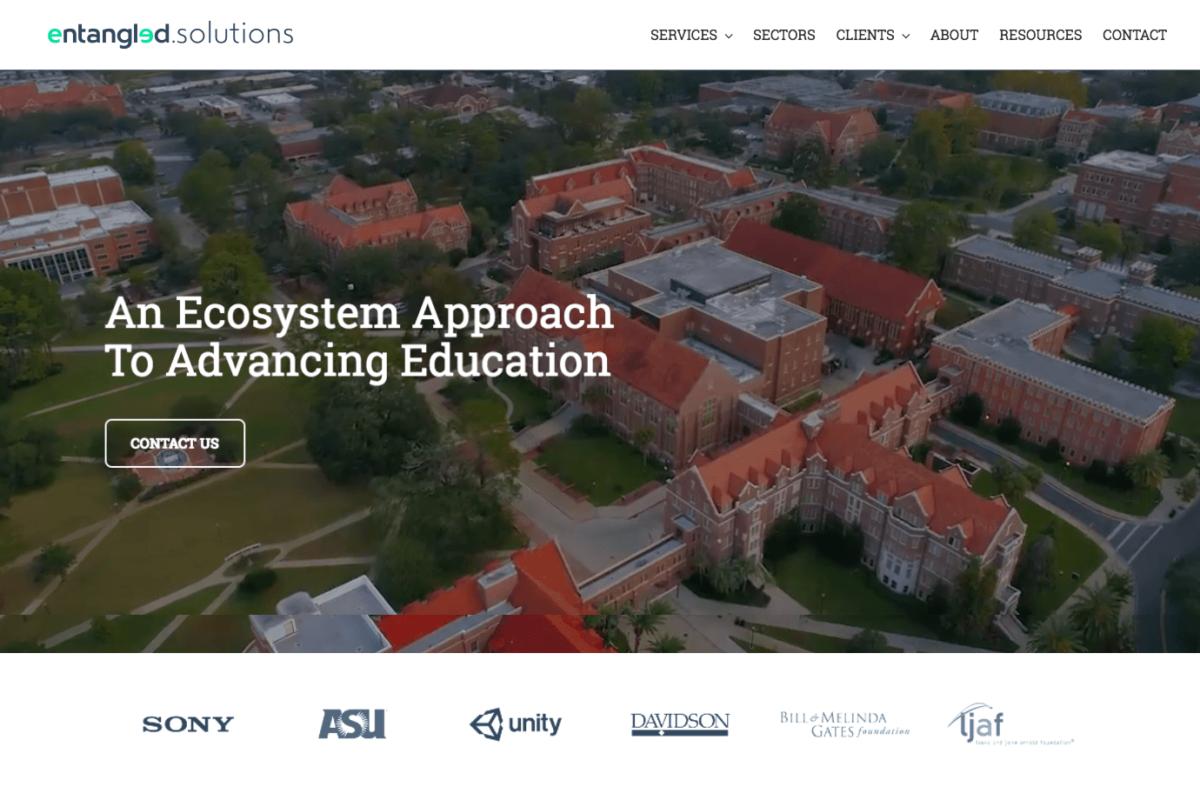 New WordPress website design for San Francisco startup Entangled Solutions