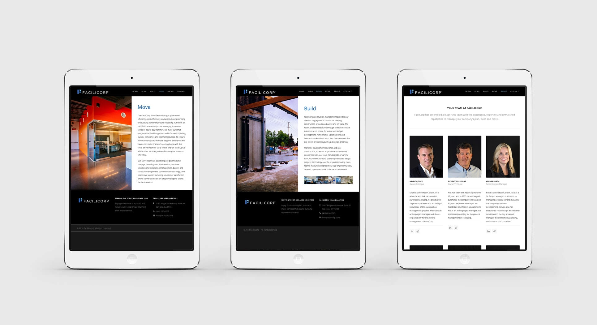 Mobile-friendly-website design San Jose shown on iPad tablets