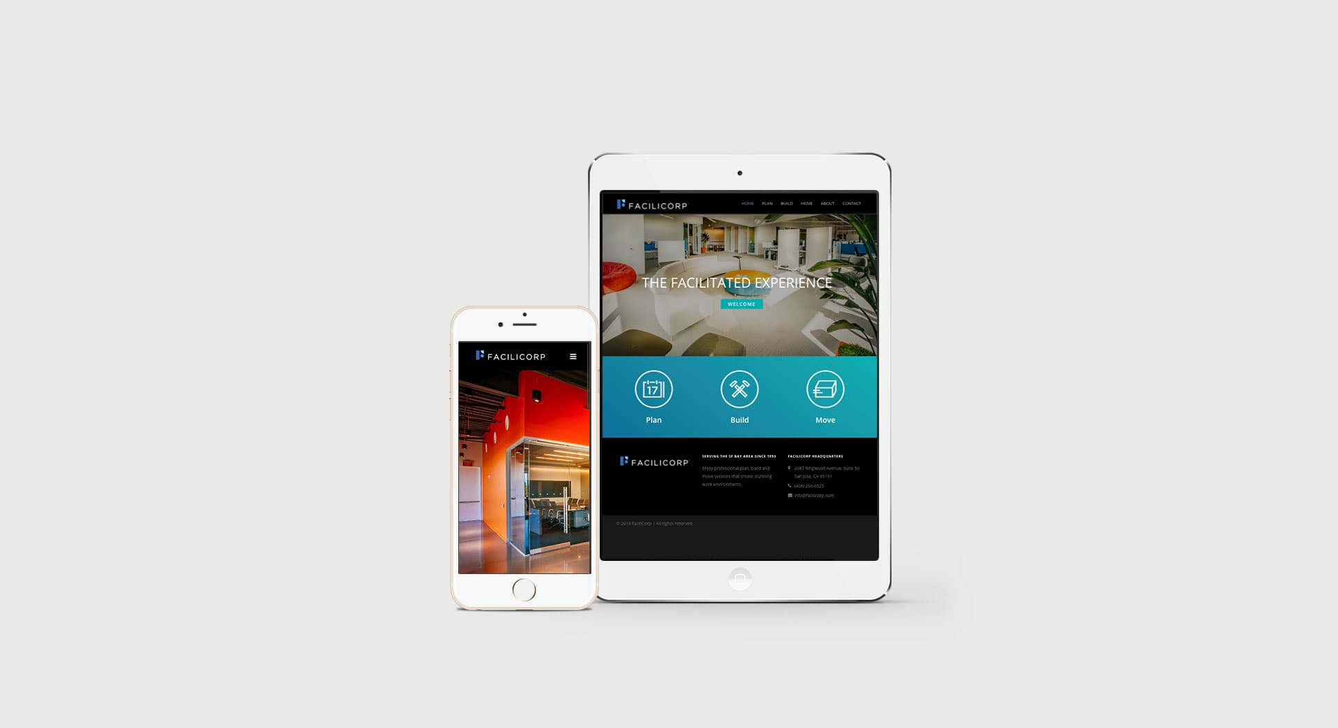 Mobile-friendly San Jose website design shown on tablet and smartphone