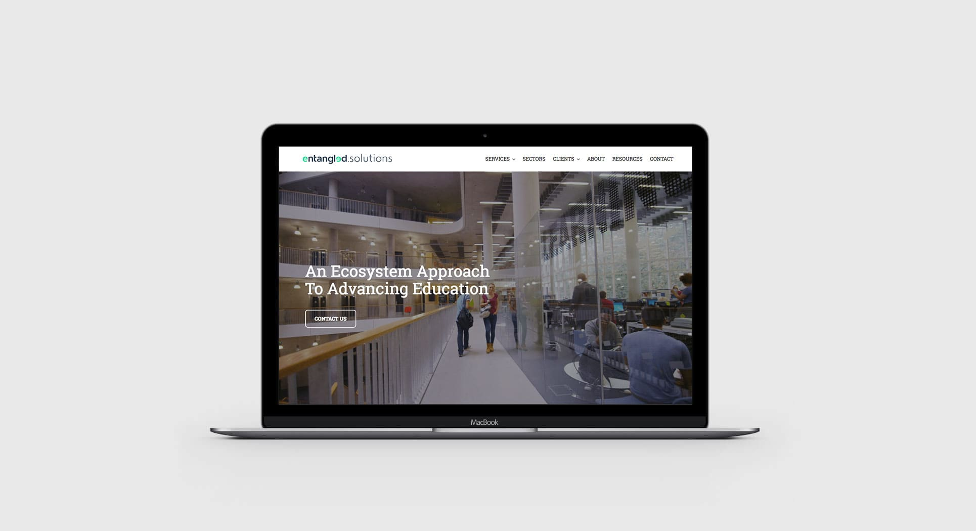 Responsive WordPress website design for San Francisco startup Entangled Solutions
