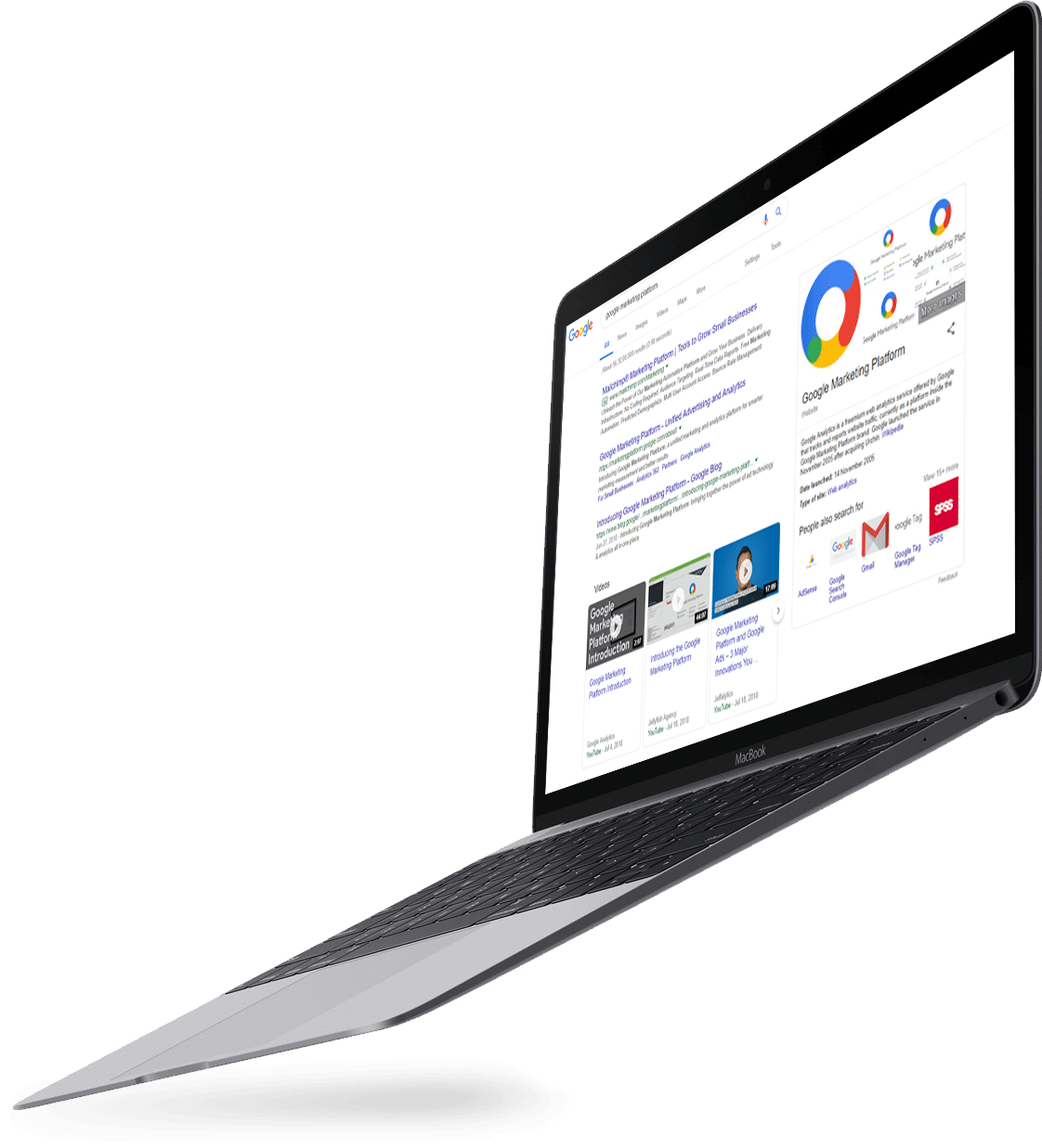 Laptop displaying Google Analytics for Palo Alto business