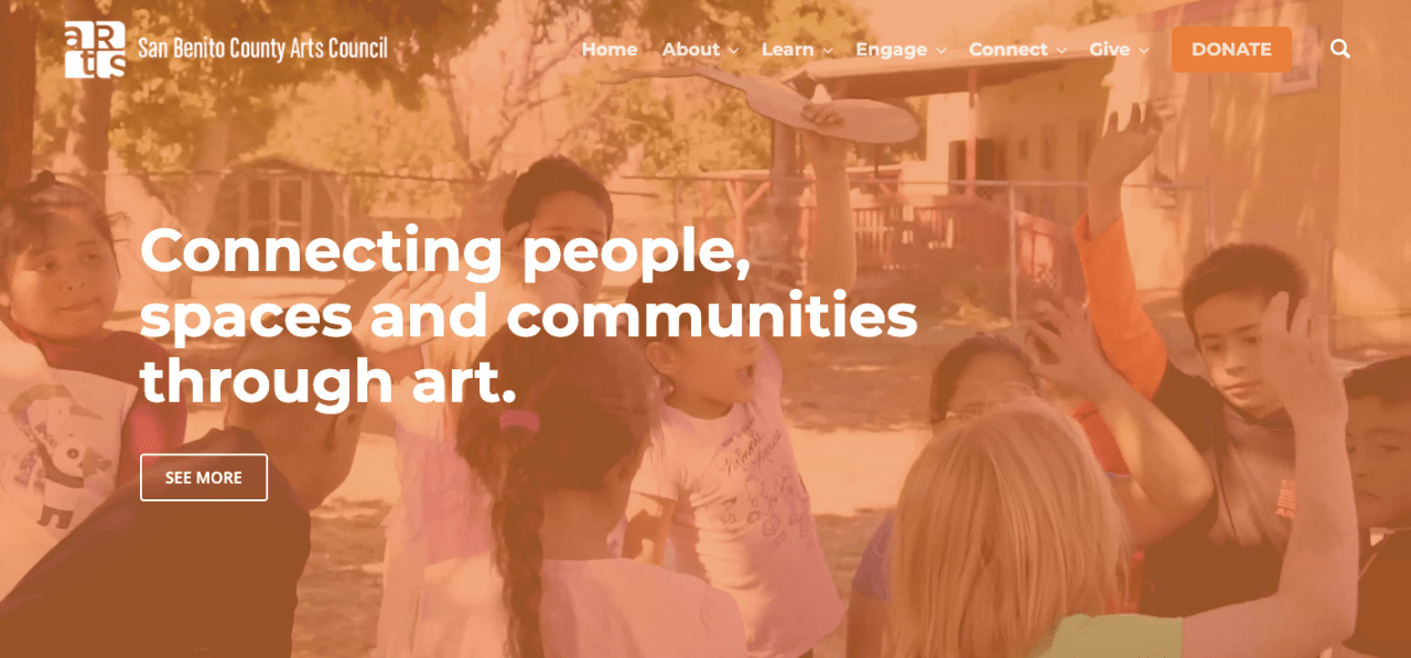 San Benito County Arts Council website design project