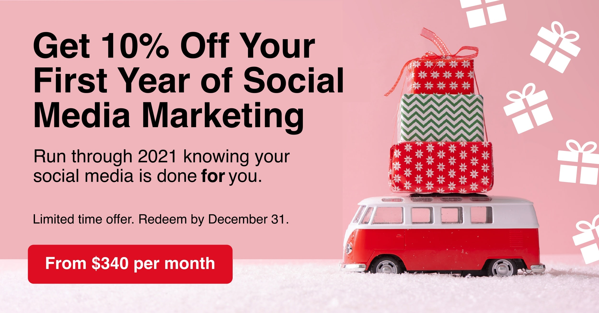 Social media marketing done for you special offer